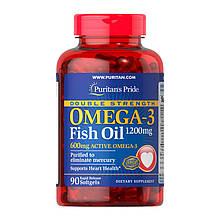 Омега 3 Puritan's Pride Double Strength Omega-3 Fish Oil 1200 mg 90 softgels