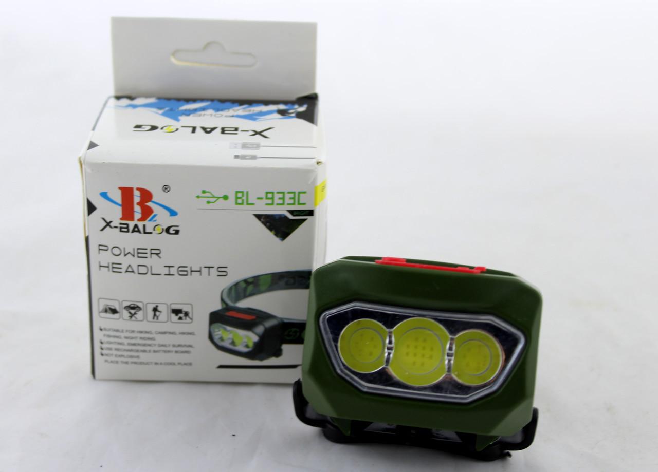 Налобный фонарик  BL T89 COB