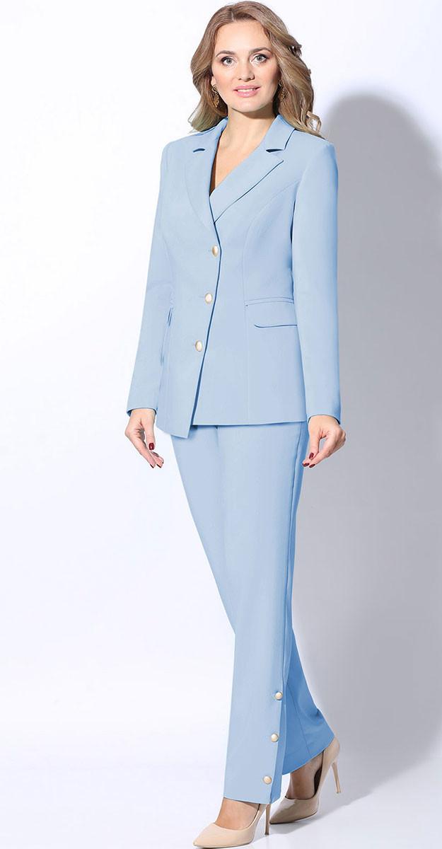 Костюм LeNata-21095 белорусский трикотаж, светло-голубой, 44