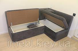 Кухонний кутовий диван з вметительными ящиками (Темно-сірий)