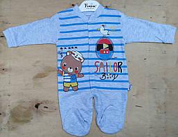 Детский человечек 3-6 мес комбинезон для новорожденных на мальчиков Турция оптом