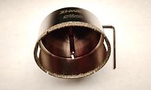 Алмазне свердло трубчасте по склу та кераміці 65 мм з направляючою Zhwei