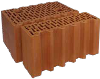 Керамические блоки Porotherm (Поротерм) 44 1/2 P+W половинка 440х124х238 мм., фото 1