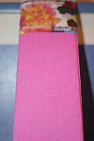 Бумага для творчества разноцветная гофрированная (крепированная) 2000*500мм. Цвет розовый.