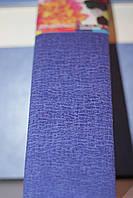 Бумага для творчества разноцветная гофрированная (крепированная) 2000*500мм. Цвет синий.