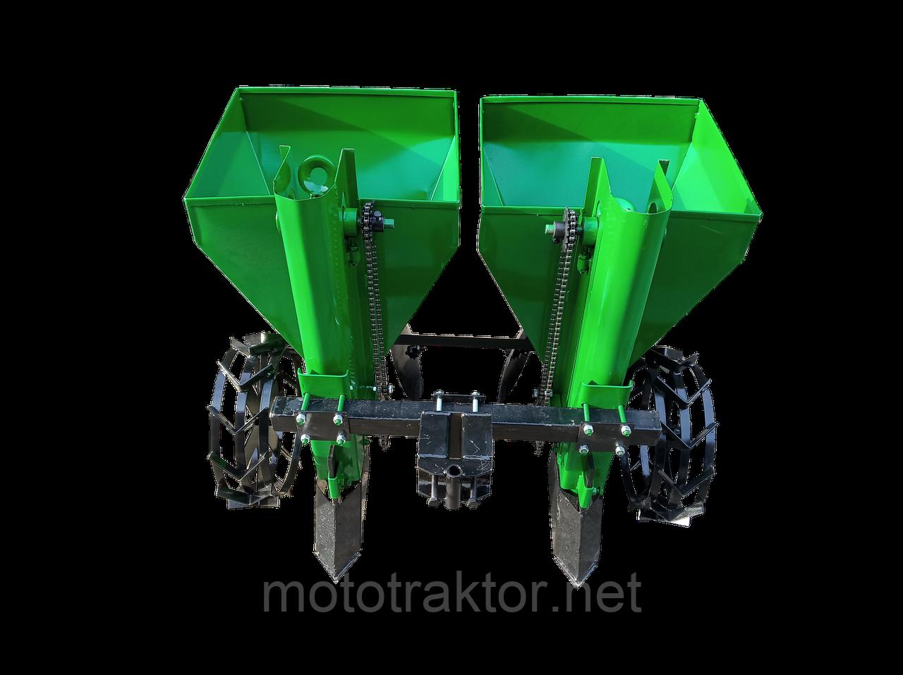 Картофелесажалка двухрядная для мототрактора КСН-110 (1Т)