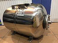 Гідроакумулятор водопостачання 50 л горизонтальний нержавійка LIDER