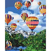 Картина по номерам Идейка Сельский пейзаж 40х50 см Покоряя небо (KHO2227)