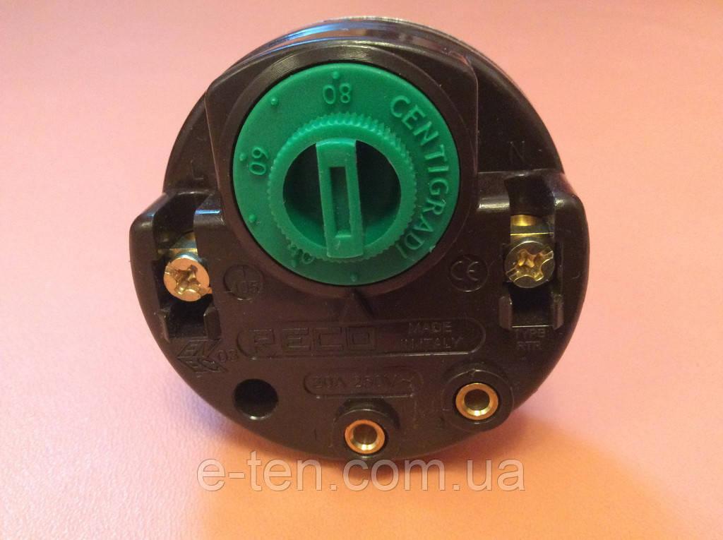 Терморегулятор механический - type RTR  20А / 250V (для ТЭНов),  длина 270мм       Reco, Италия