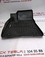 Зап. части для авто Tesla. Коврик напольный резиновый 1-го ряда сидений левый Tesla model S REST 1047686-00-X