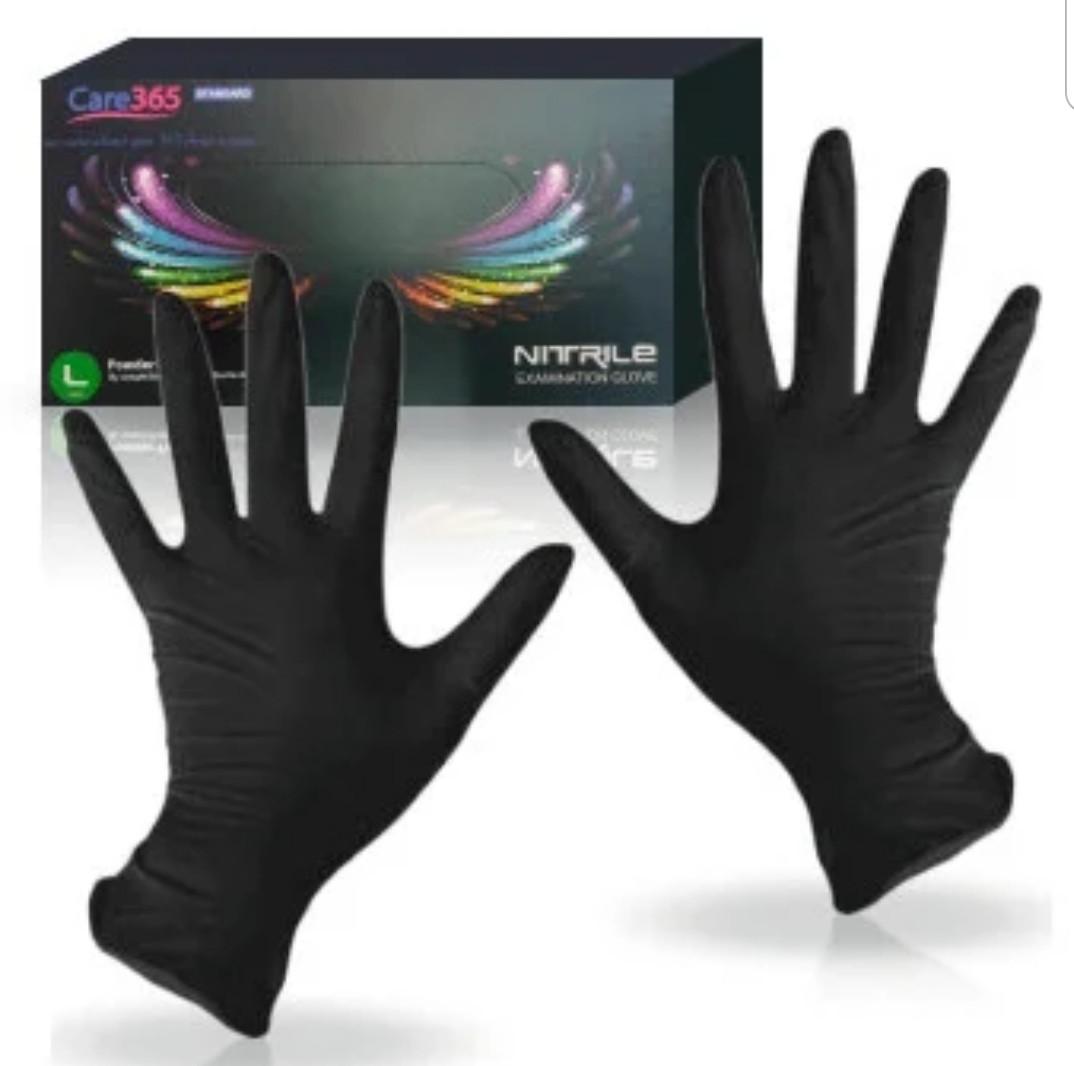 """Перчатки нитриловые чёрные """"Сare365"""""""