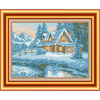 Схема для вышивки бисером В снежном плену