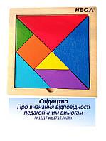 Головоломка HEGA Танграм з посібником