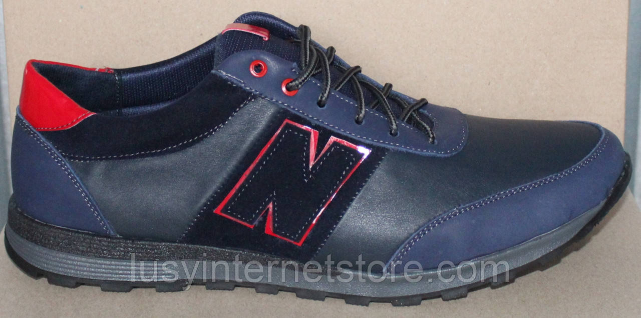 Кроссовки кожаные мужские большого размера от производителя модель БФ405