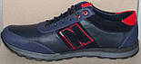Кроссовки кожаные мужские большого размера от производителя модель БФ405, фото 3