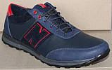 Кроссовки кожаные мужские большого размера от производителя модель БФ405, фото 2