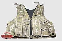 Тактический разгрузочный жилет с карманом для гидратора Multicam, фото 1
