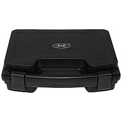 Кейс для пистолета пластиковый с застёжками малый чёрный MFH