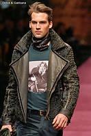 Мужская куртка из меха свакары с кожей