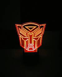 Зйомна пластина з малюнком до нічника, Трансформер (лого)