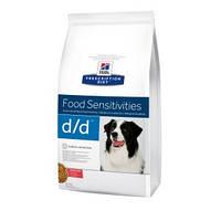 Hills (Хиллс) Prescription Diet d/d Food Sensitivities корм для собак с лососем и рисом, 2кг уценка! Сроки!!