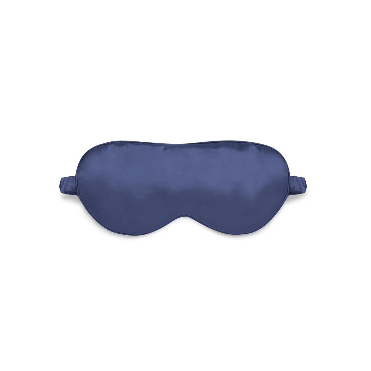 Маска для сна Love You Синяя, 100% Шёлк, Цельный ремешок