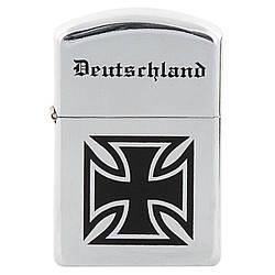 Зажигалка бензиновая ветрозащитная хромированная Deutschland MFH