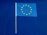 Флажок Евросоюза 14х21см на пластиковом флагштоке