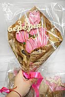Лучший подарок к 8 марта - Букет с медовыми имбирными  пряниками (возможно нанести логотип), фото 1
