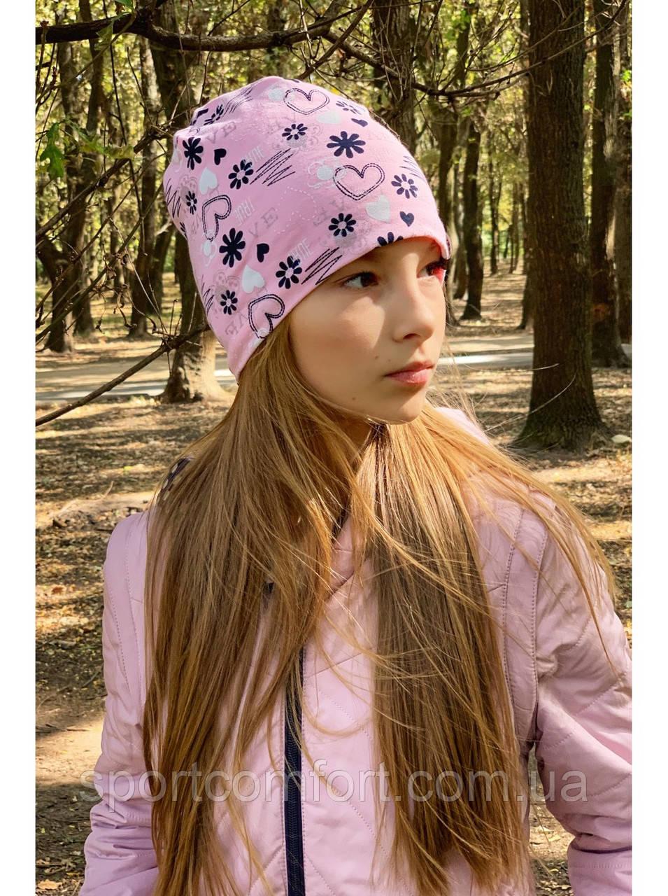 Шапка на девочку freever розовая
