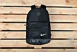 Стильный городской спортивный рюкзак NIKE, Найк. Черный с черным. Ромбик, фото 5
