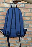 Качественный рюкзак Nike Air, найк темно-синего цвета с вставками кож зама черного цвета., фото 7