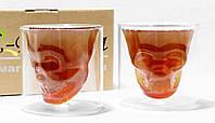 Набір склянок з подвійними стінками Череп 210 мл 6736