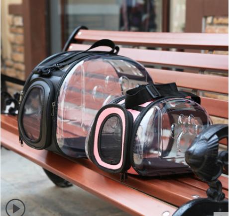 Прозрачная сумка для животных