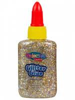 Клей Confetti с блестками, 36,9 мл, 6 цветов, золотистый, Colorino (68765PTR-1)