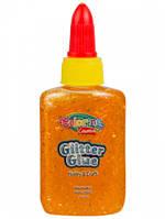 Клей Confetti с блестками, 36,9 мл, 6 цветов, оранжевый, Colorino (68765PTR-3)