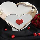 Кашпо біле у формі серця 19х25 см 75 грн, фото 7