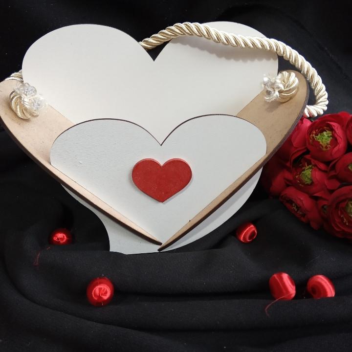 Кашпо белое Сердце 19х25 см 75 грн