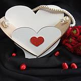 Кашпо біле у формі серця 19х25 см 75 грн, фото 6