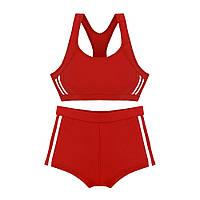 Спортивный детский купальник для бассейна и плавания Красный