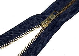 Застежка-молния джинсовая синяя GOLD 12 см прижимная