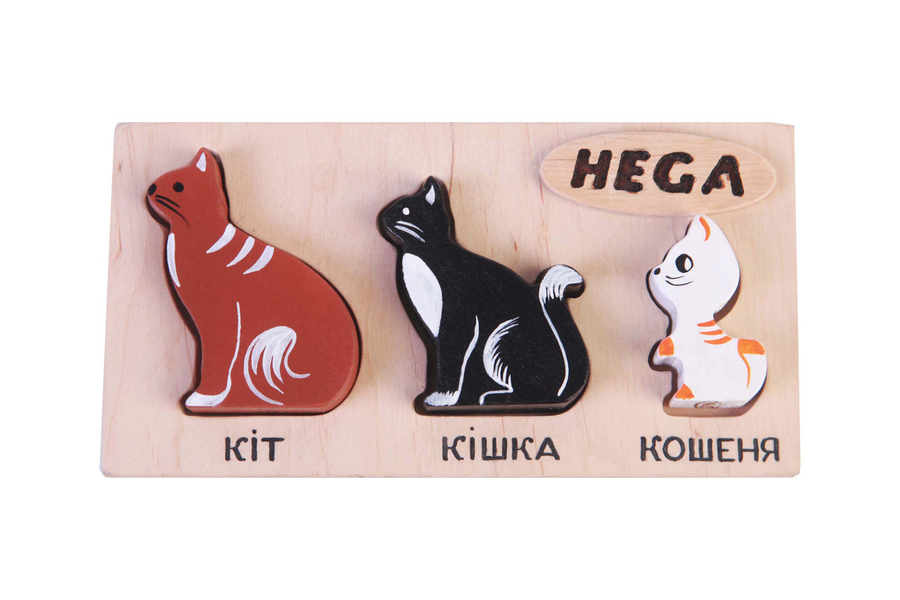 "Набор фигурок-вкладышей Hega ""Коты""  (125)"