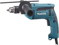 Дрель электрическая ударная Makita HP1640 680 Вт 13 мм патрон ключевой