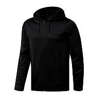 Худи Reebok Workout Ready Full-Zip Thermowarm CY3622 (черная, мужская, тренировочная, на молнии, бренд рибок)