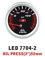 Давление масла 7704 - 2 LED стрелочный диаметр 52мм, фото 1