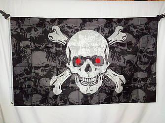 Пиратский флаг «Череп c костями» 90х150см