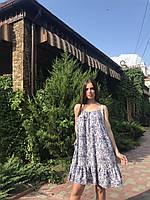 Летний женский сарафан длиной мини с оборкой, фото 2