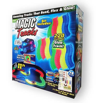 Гоночный трек Magic Tracks гоночная трасса на 220 деталей, фото 2