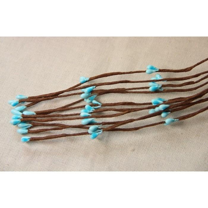 Веточки ивы ,   ярко - голубые                                100 шт