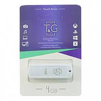 Флешка T&G 011 Classic series 4GB White
